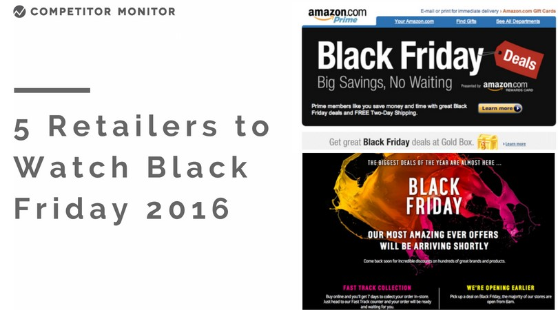 Top 5 Retailers to Watch For Black Friday Deals in 2016